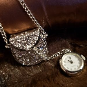 Purse with Watch Fashion Necklace